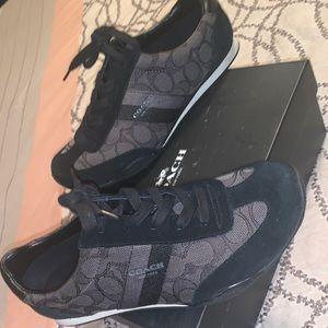 black coach shoes